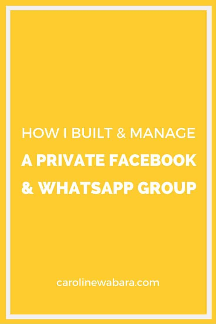 how to use closed group on facebook