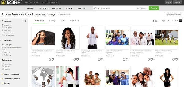 123RF Stock Photo Site for Nigeria